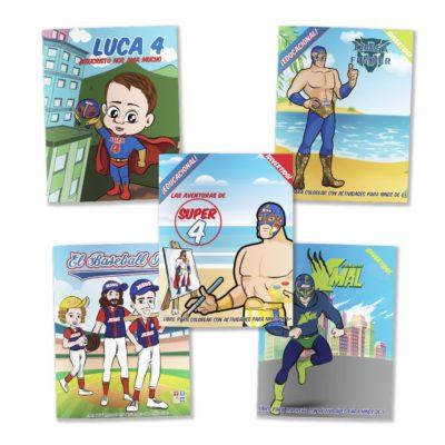Superhero Coloring Book Set-Spanish