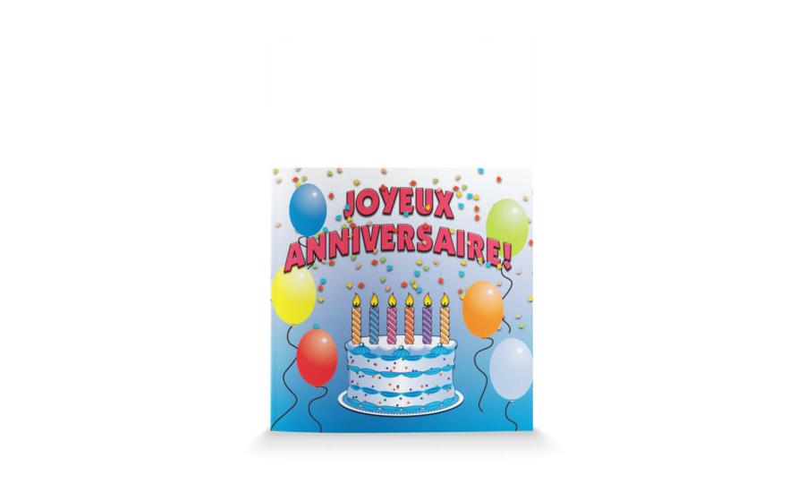 Happy Birthday-French