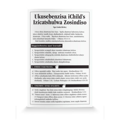How To Use The Child's Salvation Tract—Xhosa
