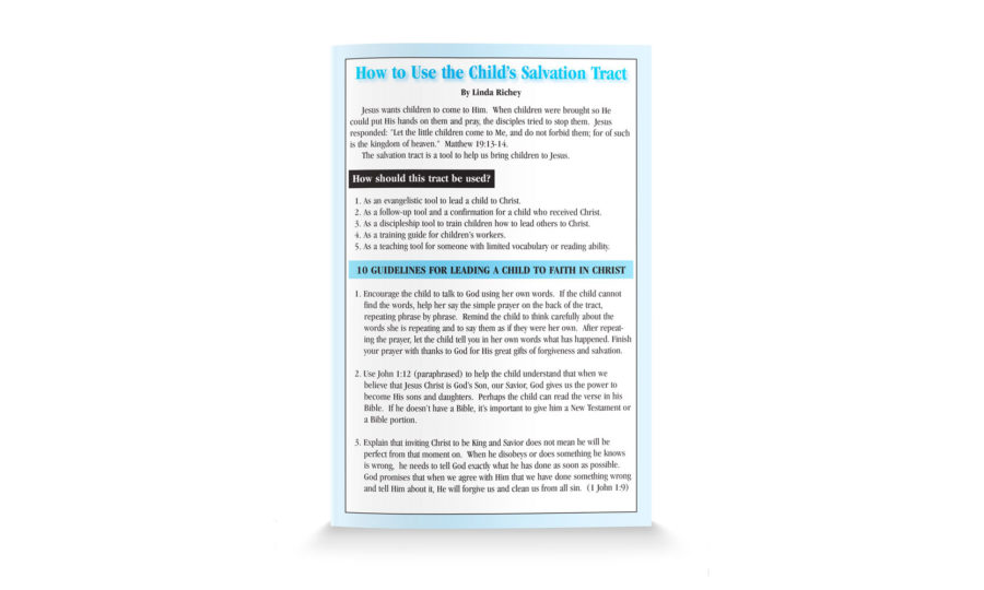 How to Use the Childs Salvation Tract-Shorten-English