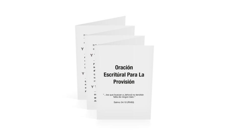 Scriptural Prayer of Provision-Spanish