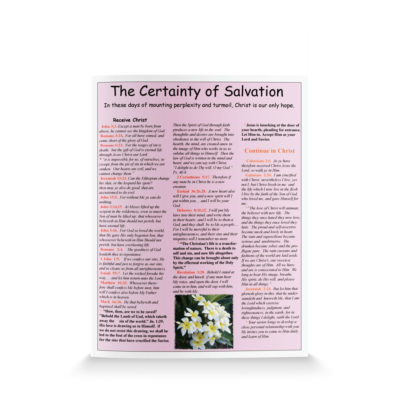 The Certainty of Salvation-English